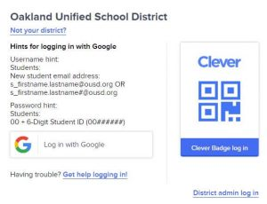 ousd student portal with clever