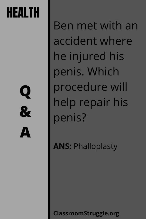 Ben met with an accident where he injured his penis. Which procedure will help repair his penis?