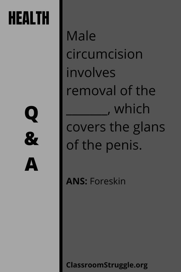 Male circumcision involves removal of the _______, which covers the glans of the penis.