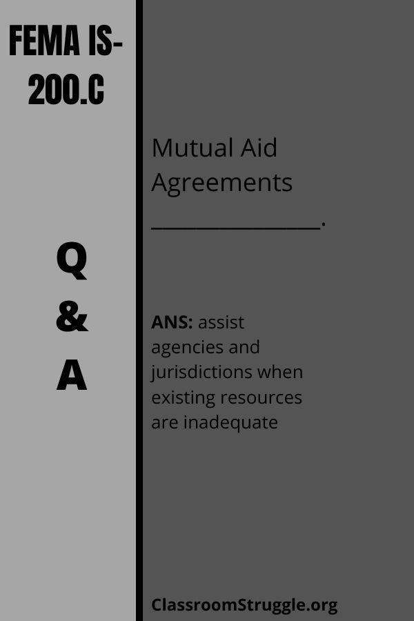 Mutual Aid Agreements _______________.