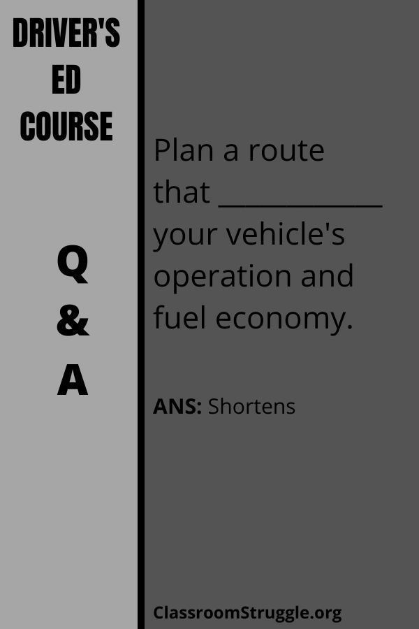 Plan a route that ____________ your vehicle's operation and fuel economy.