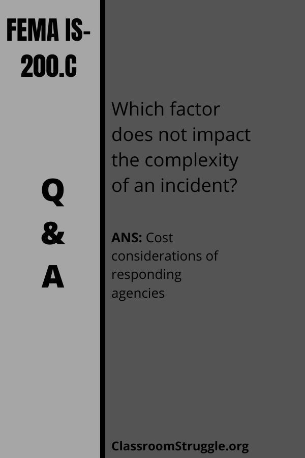Which factor does not impact the complexity of an incident?