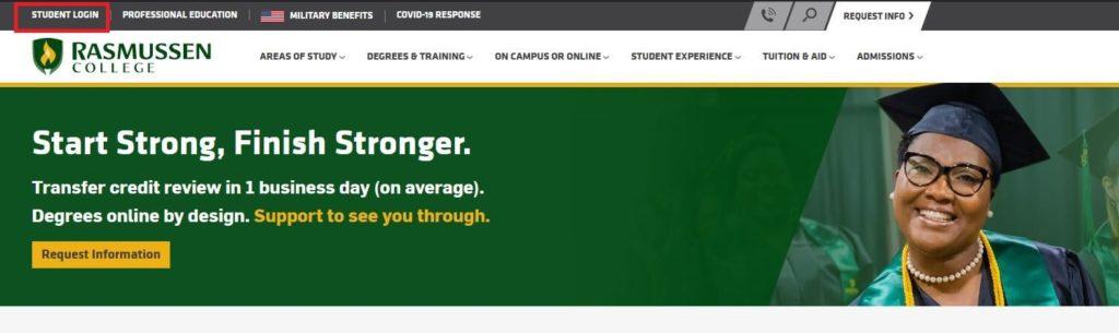 rasmussen college student portal login homepage