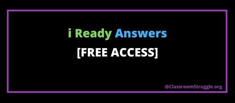i ready answers key